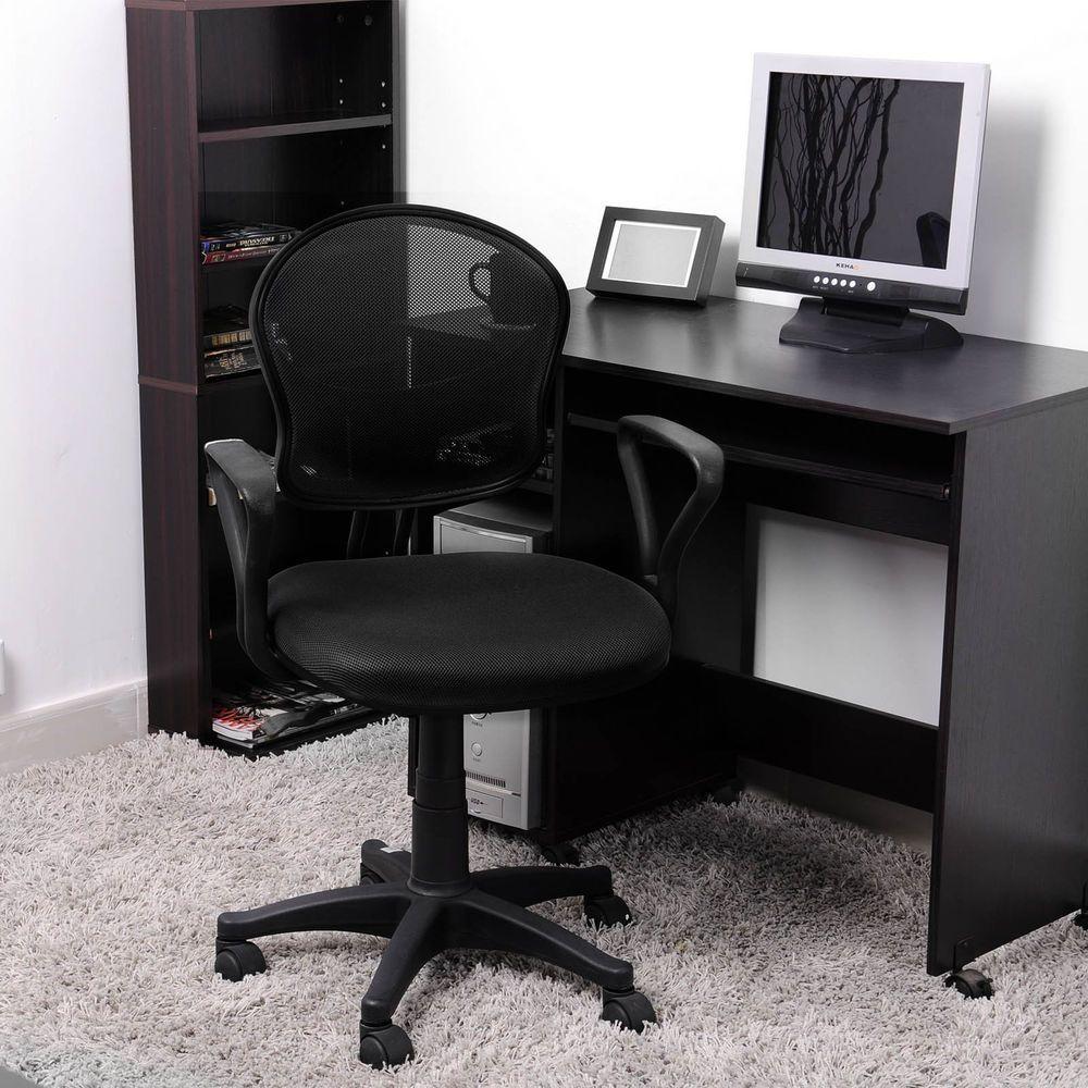 Office Students Adjustable Computer Desk Chair Mesh Swivel