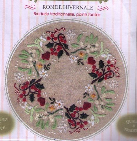 Ronde hivernale — French Needlework Kits, Cross Stitch, Embroidery, Sophie Digard — The French Needle
