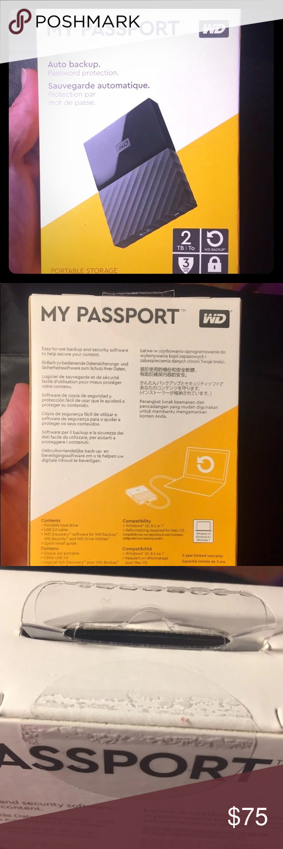 WD 2 TB External Hard Drive My Passport by Western Digital 2 TB