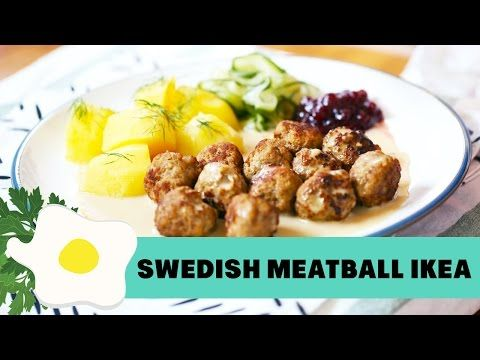 Forget Ikea Try These Swedish Chicken Meatballs In A Mustard Cream Sauce Youtube Resep Makanan Resep Salmon Bakso