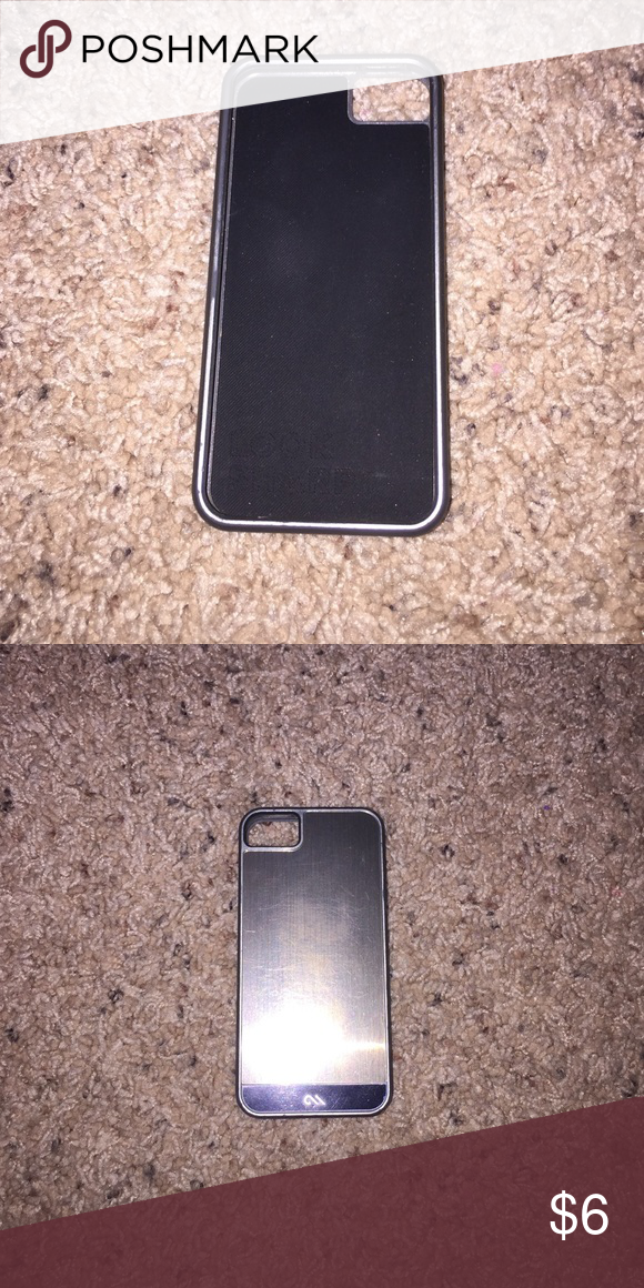 I phone 5/5s phone case! Black on inside, gray on outside! Accessories Phone Cases