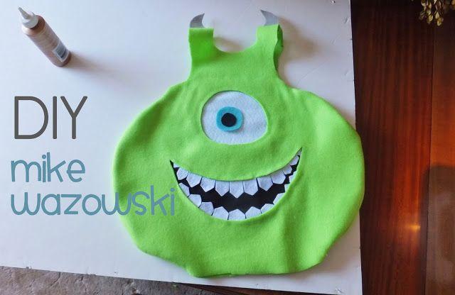 Homemade Mike Wazowski Monsters Inc costume!   halloween