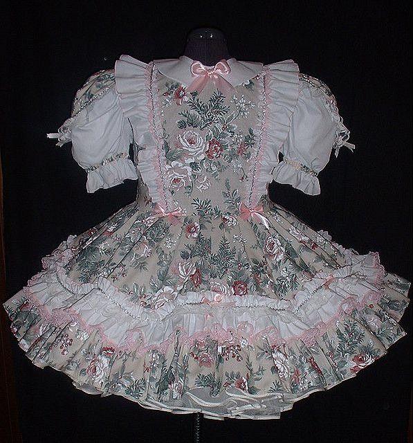 "/""Brenda/"" custom fit Lacy Rose Princesse Bows Adult Little Girl Sissy Robe Leanne"
