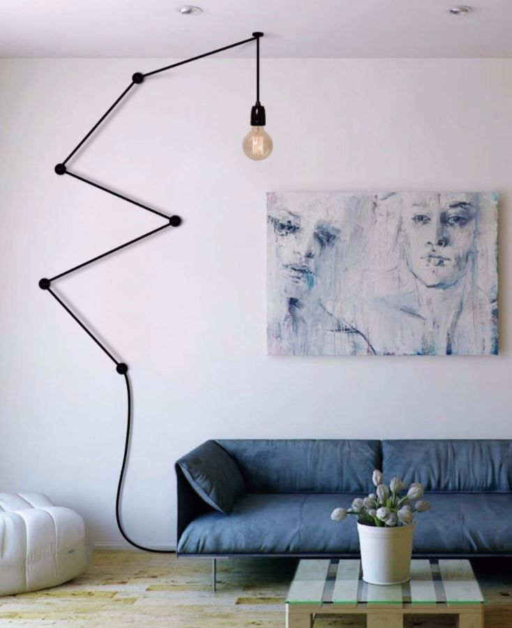 Direct light pendant lamp SNAKE LAMP BLACK - FILAMENTSTYLE