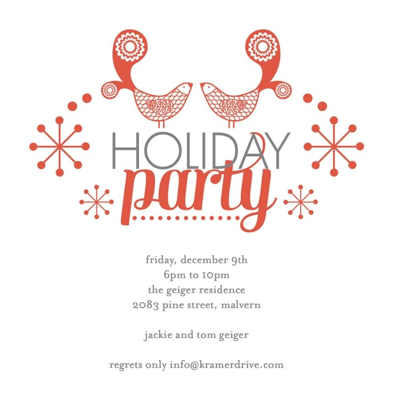 Kramer Drive Holiday Invitation Available at Salutations - holiday party invitation