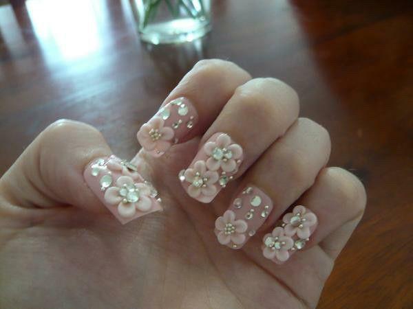 Hime Nails Acrylic Nail Art Pink