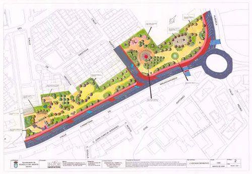 Plano parque urbano.