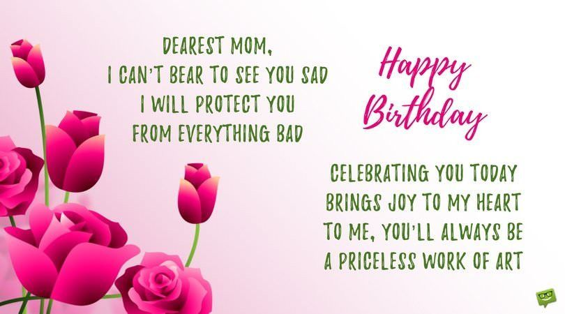 Happy birthday poems for mom beautiful poems to send to