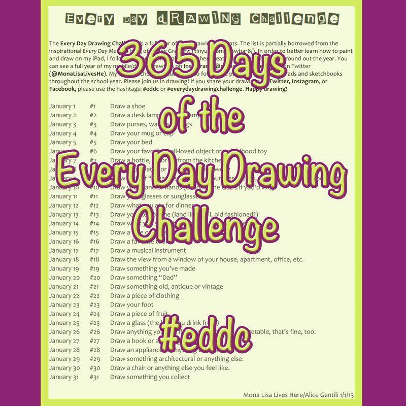 365 Everyday Drawing Challenge Drawing challenge, Ipad