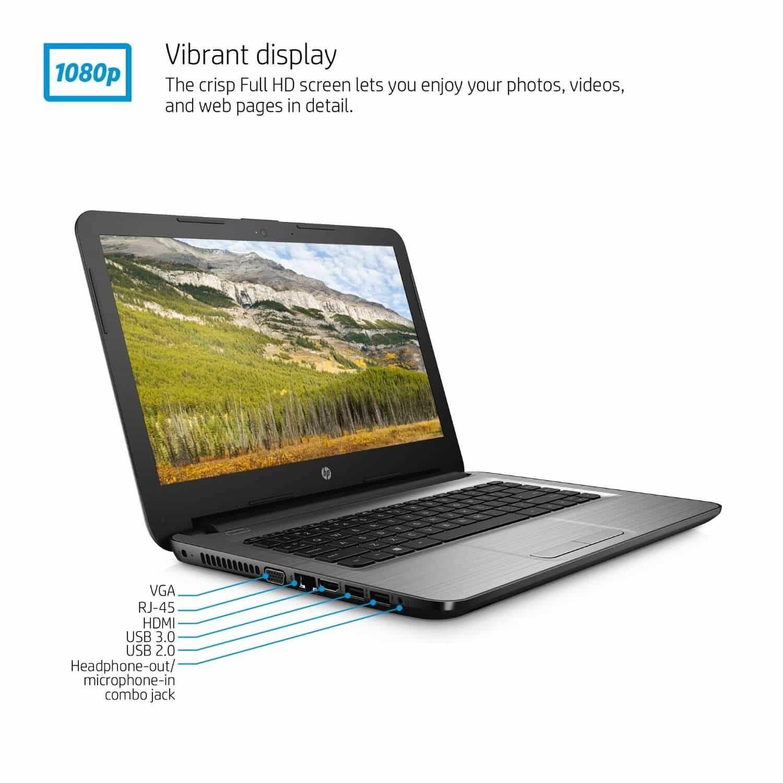 HP 14-Inch Notebook, Windows 10, AMD E2-7110 Quad Core | Giveaway