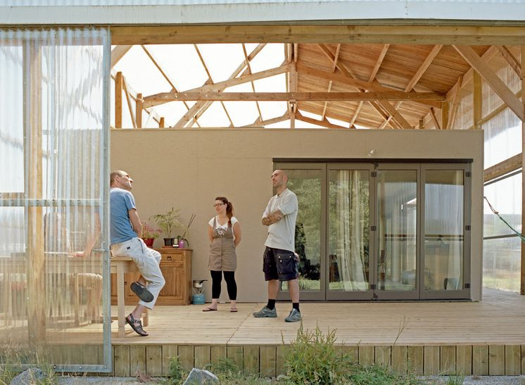 campagne terrasse en bois et balcon by bna boris nauleau architectures architecture. Black Bedroom Furniture Sets. Home Design Ideas