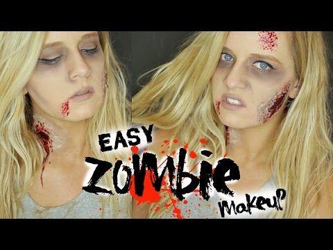 GRWM Zombie Halloween Makeup Tutorial - YouTube Halloween party - easy makeup halloween ideas