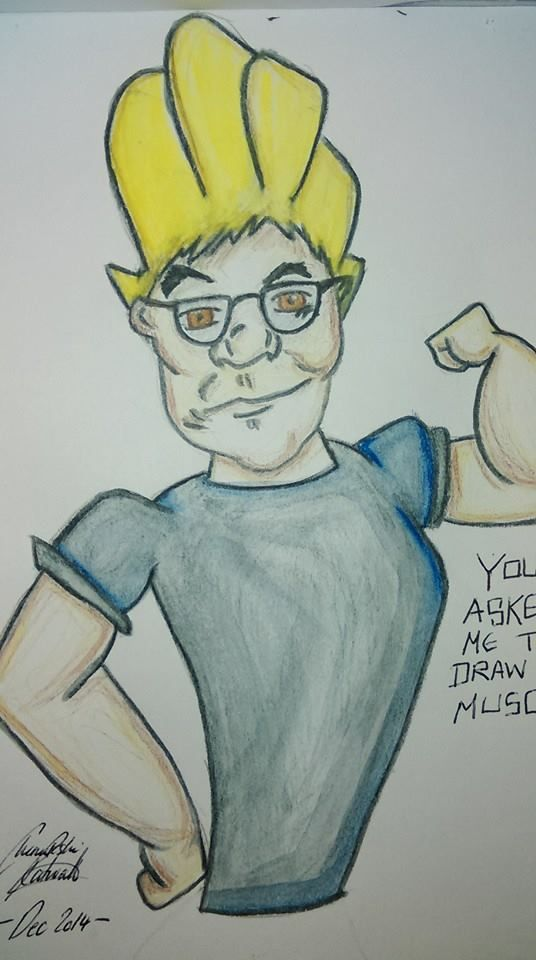 A Christmas present for a friend who requested he be drawn muscular ...