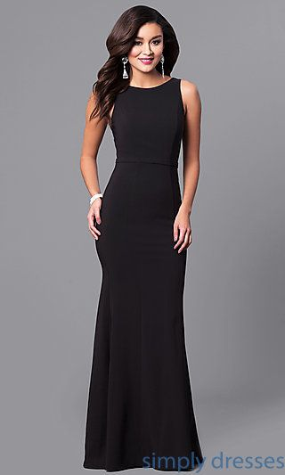5aa754249d98 Shop mermaid long formal dresses at Simply Dresses. High-neck evening  dresses under $200 with long mermaid skirts in form-fitting jersey.