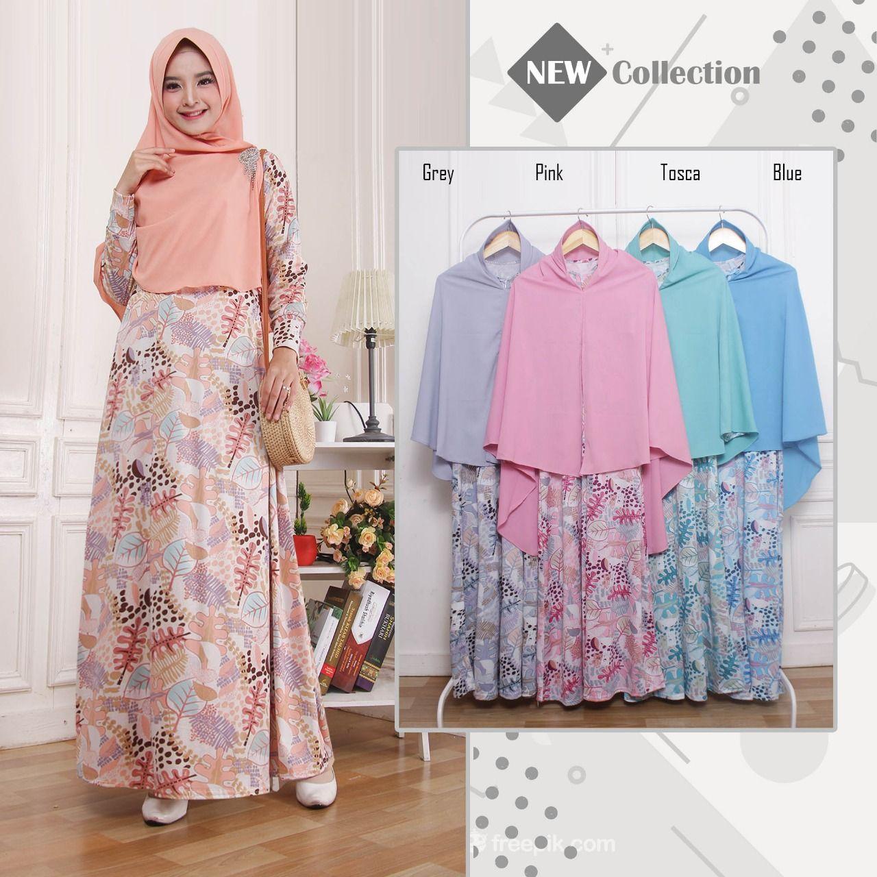 Model Baju Gamis Syari 10  Model, Baju muslim, Muslim