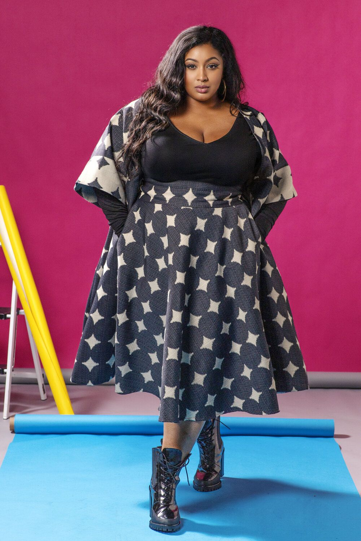 Plus Size Clothing Custom Plus Size Skirt made to measure skirt handmade Long skirt plus size Custom pencil skirt Ruffled pencil skirt
