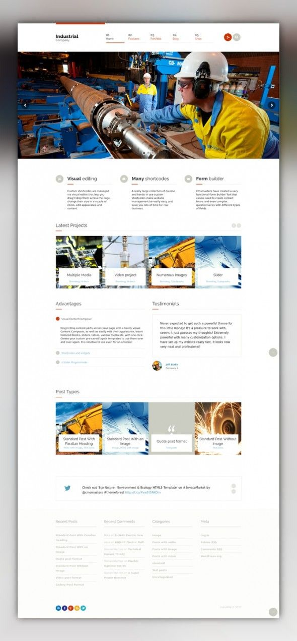 Industrial Multi Purpose Responsive Wp Theme All Purpose Building Cars Church Ecommerce Industrial Wp Themes Web Template Design Best Website Templates