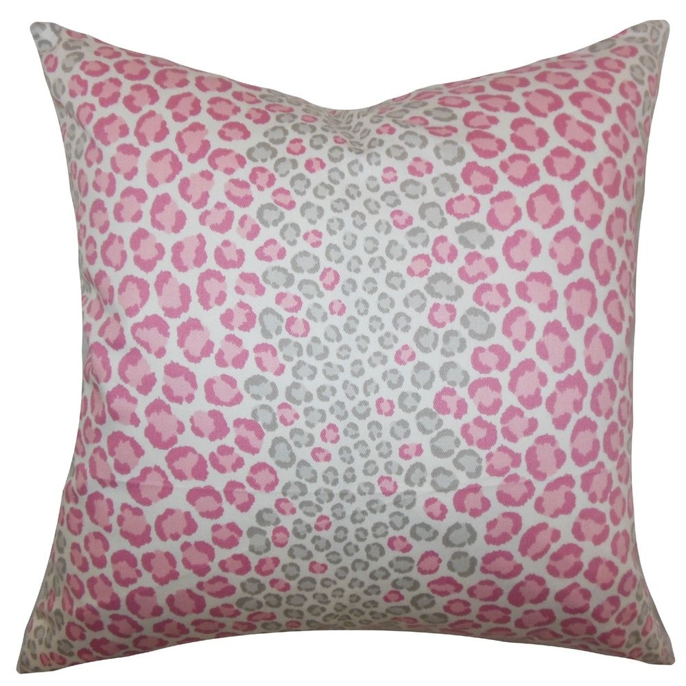 Mailys Animal Print Pink Down Filled Throw Pillow | Overstock.com ...