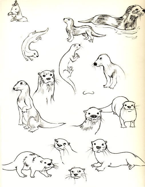 Cartoon Otter Tattoos