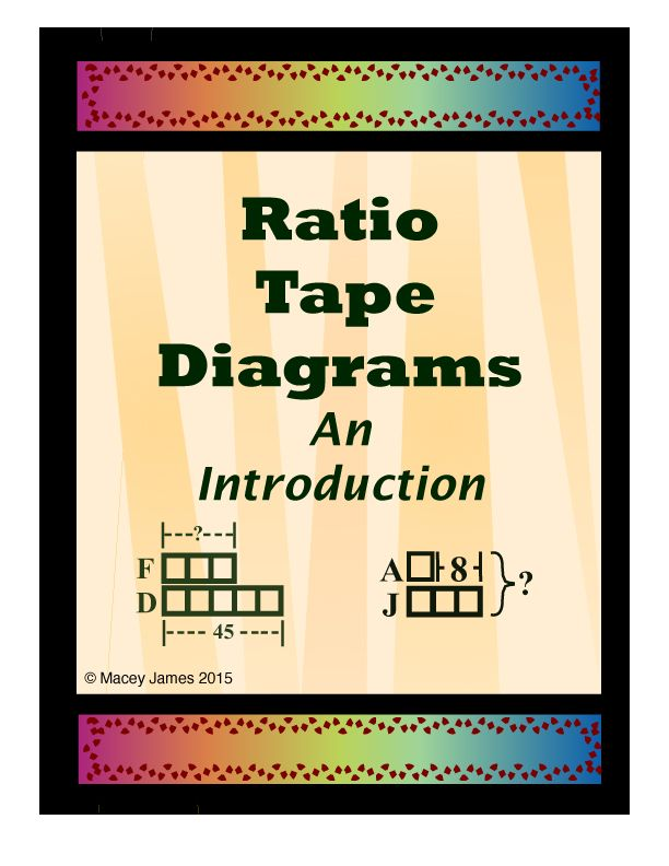 Ratio Tape Diagrams An Introduction Macey James Tpt Store