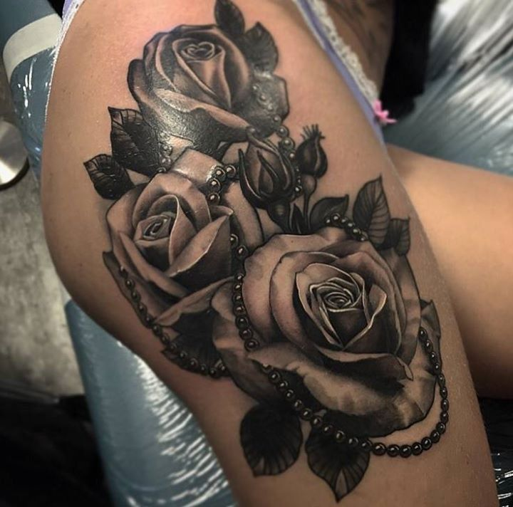 Black Ink Rose Tattoo On Girl Right Hip: Pin By Maja Klasić On Tattoo Artists
