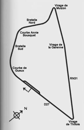 the new circuit at reims used for the french grand prix in 1953 54 1956 1958 61 1963 and 1966. Black Bedroom Furniture Sets. Home Design Ideas