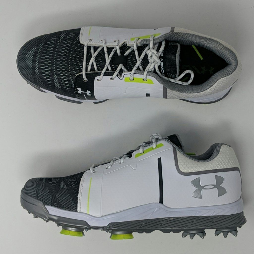 0a50a6395bb Under Armour UA Tempo Sport Golf Womens Shoes White Steel Green 129275 –  LoneSole