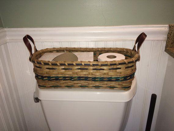 Toilet Tank Handwoven Basket Bathroom Storage Basket Bathroom Basket Storage Toilet Tank Hand Woven Baskets