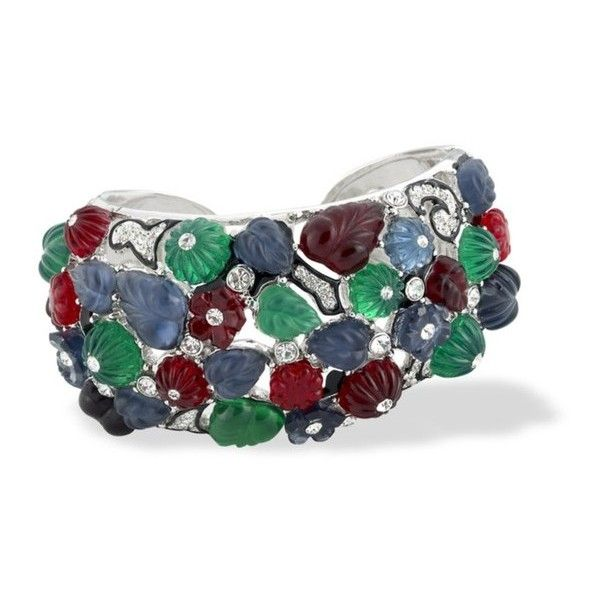 Kenneth Jay Lane Tutti Frutti Art Deco Cuff Multi 4xgU0