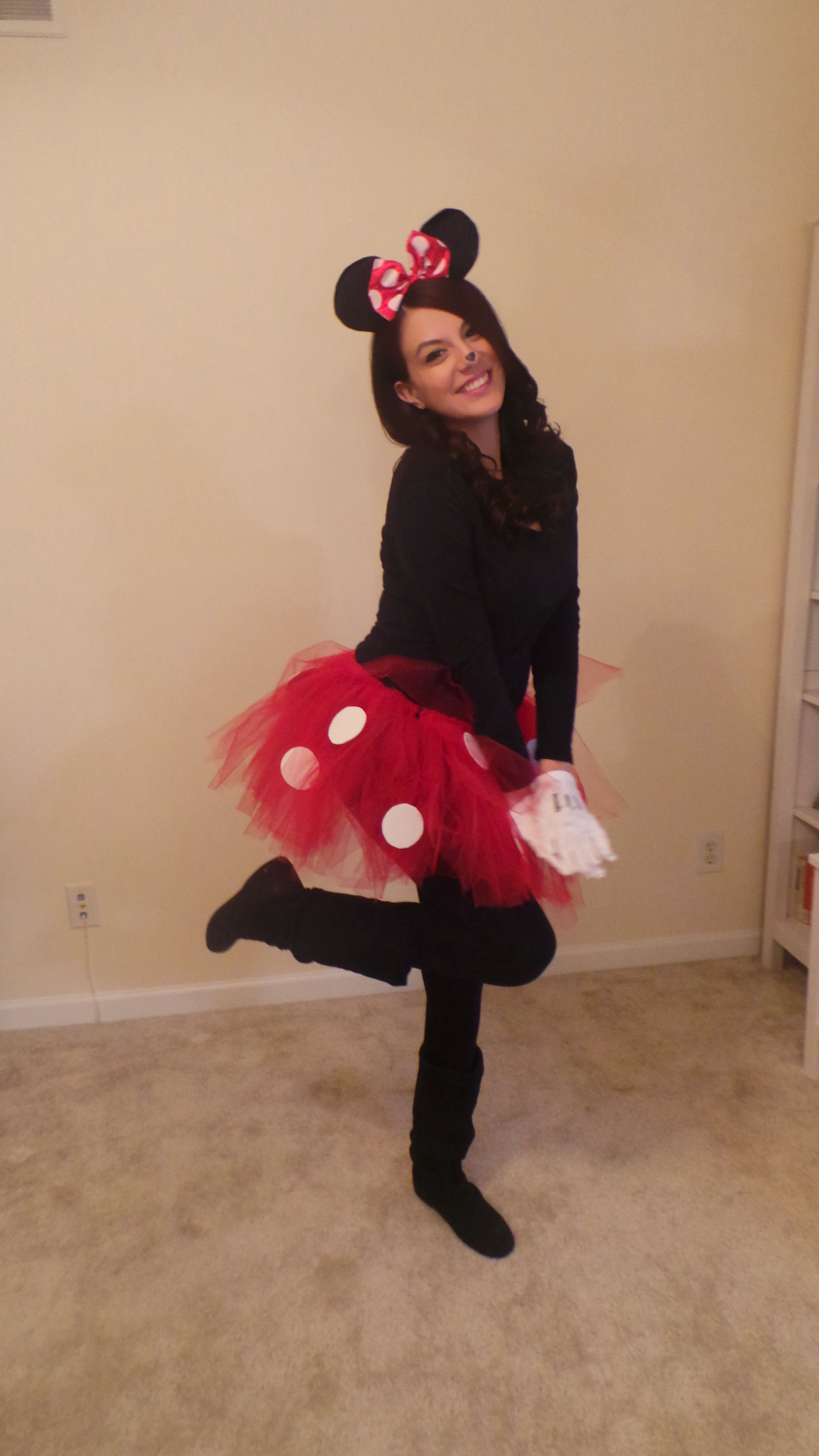 diy minnie mouse costume my style pinterest fasching. Black Bedroom Furniture Sets. Home Design Ideas