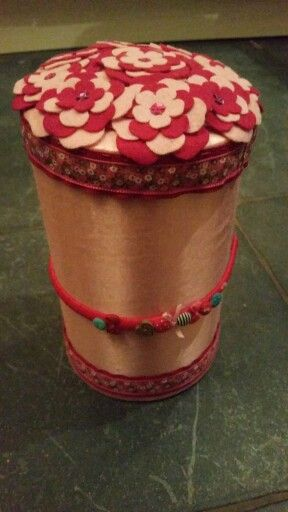 Headband holder, with storage space inside for jewelery.