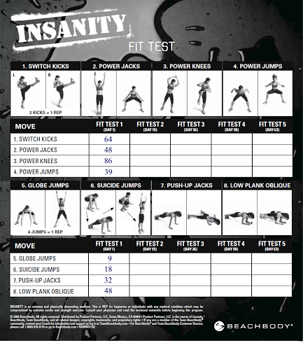 Insanity Workout Exercises Video