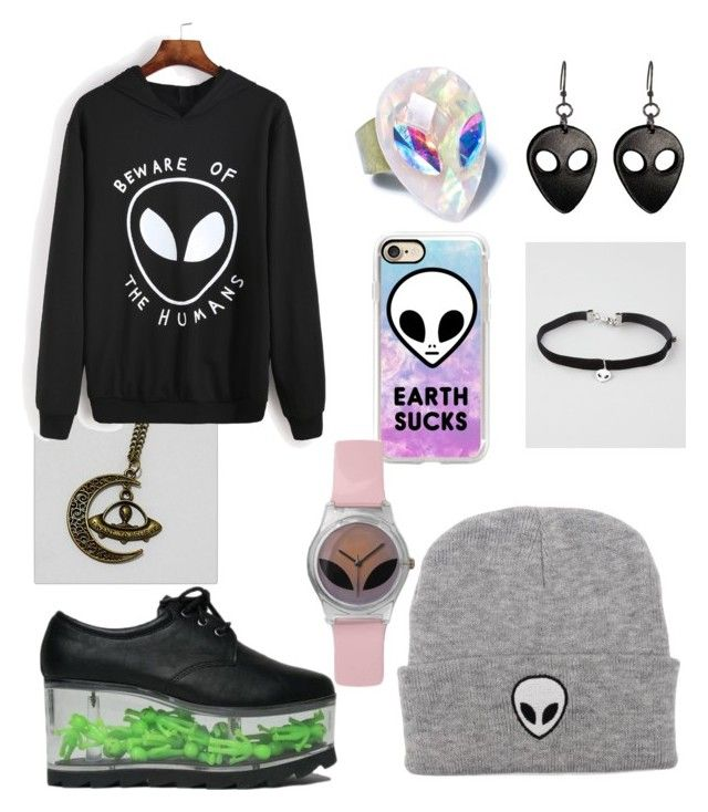 """Alien2"" by weird-kitten ❤ liked on Polyvore featuring Full Tilt and Casetify"