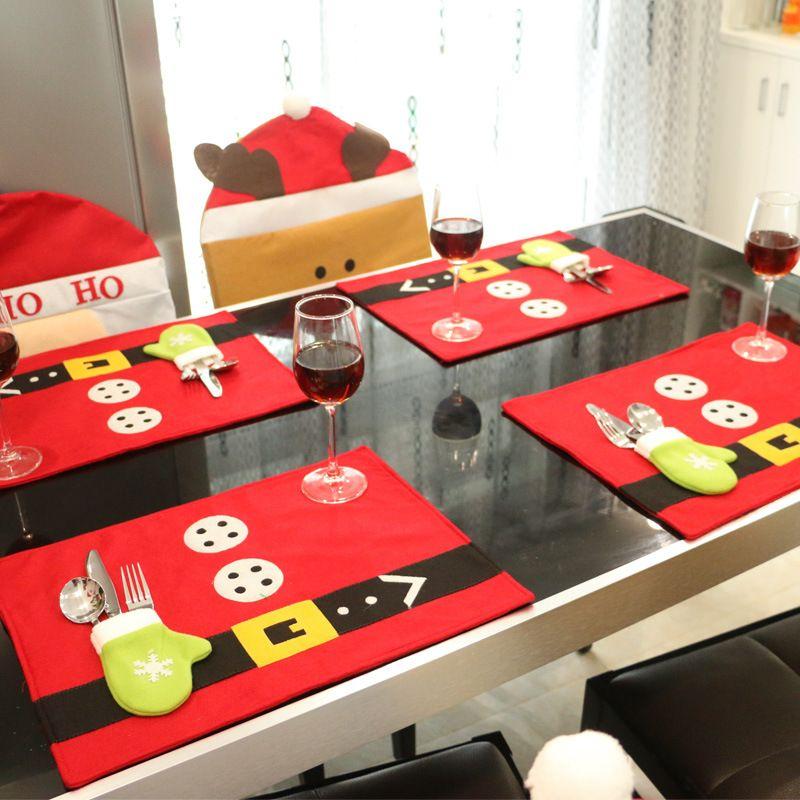 1 unid cubiertos soportes y manteles de mesa decoraciones para el hogar ornamento de navidad - Decoracion de navidad para el hogar ...