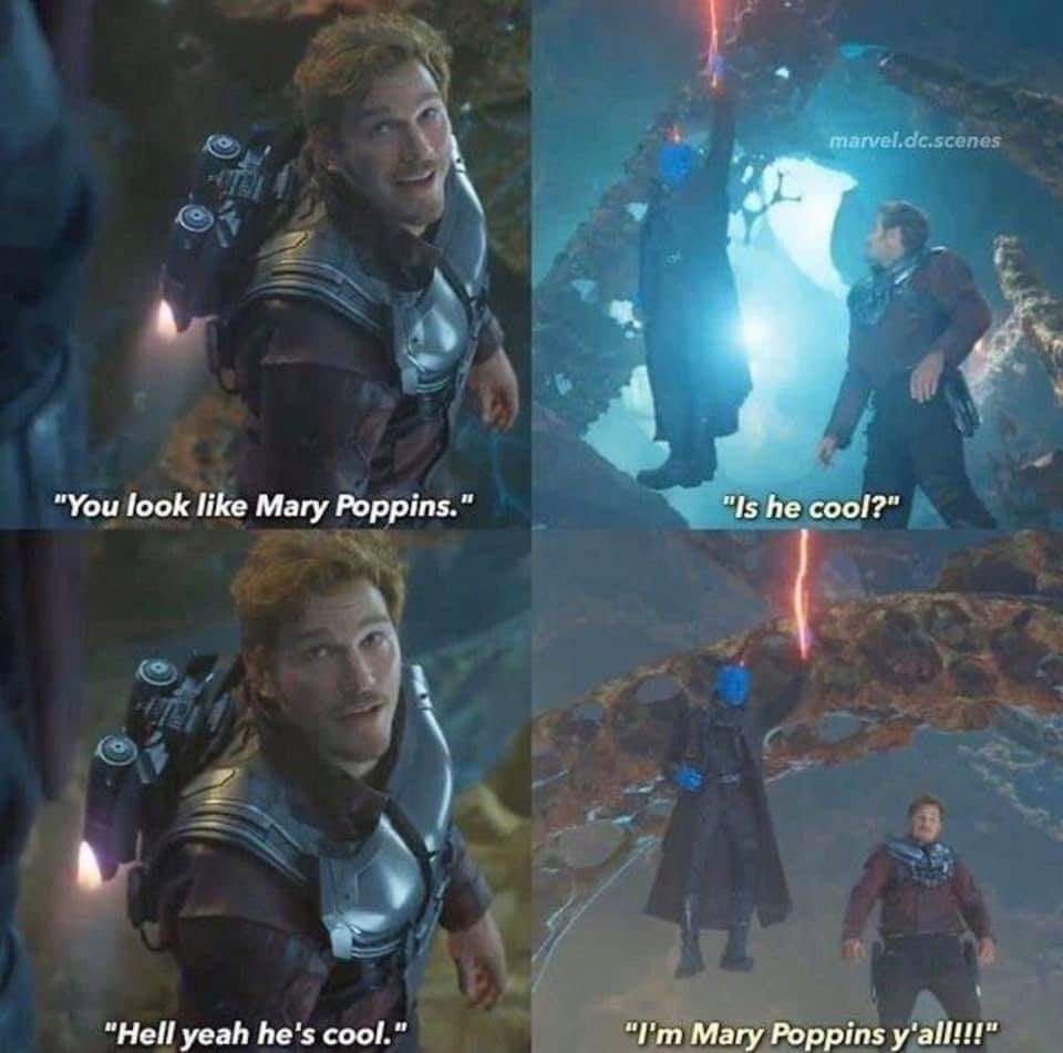 I M Mary Poppins Y All Yondu Quill Guardians Of The Galaxy 2 Funny Marvel Memes Marvel Funny Marvel Superheroes