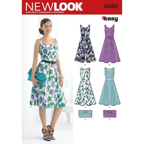 New Look Pattern 6020 Misses\' Dresses & Purse   Sewing Projects ...