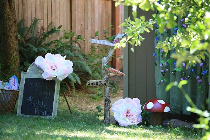 Fairy Garden Birthday Party via Kara\'s Party Ideas | KarasPartyIdeas ...