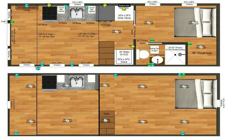 Pin By Kathryn Bean On 28 Foot Tiny House Plans Tiny House Floor Plans Tiny House Plans Tiny Houses For Sale