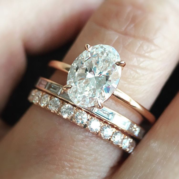 engagement vintage cluster oval set rings wedding halo diamond ring white shoulders with gold