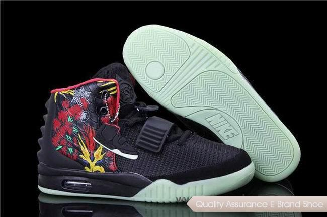 online store d9a1a a36c4 ... free shipping nike air yeezy 2 bird of paradise black fire red  basketball shoes. our