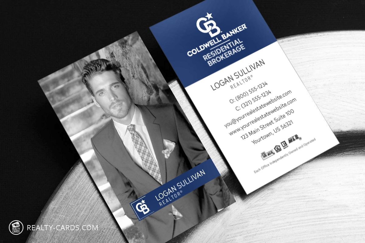 New Coldwell Banker Business Cards With Coldwell Banker Business Card Business Card Template Design Modern Business Cards Professional Business Cards Templates