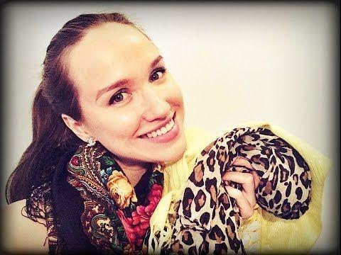 Как красиво завязать шарф/платок - 5 способов - YouTube