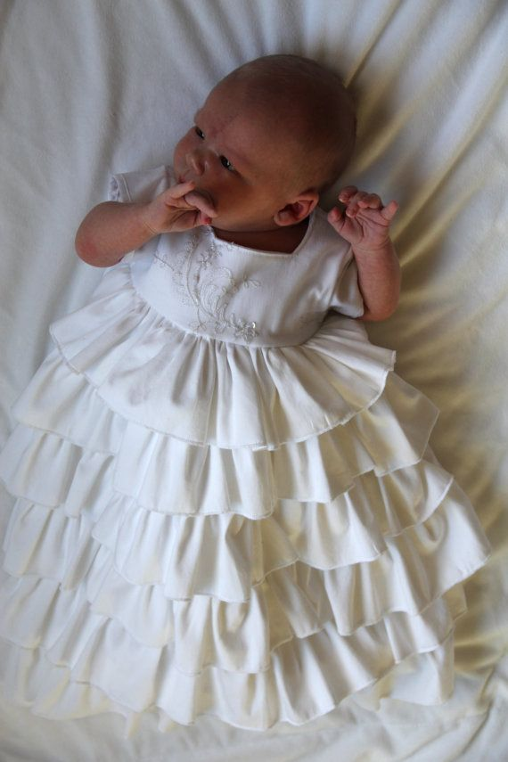 Baby Girl Christening Dress by CheeryGrooveCrafts on Etsy, $150.00 ...