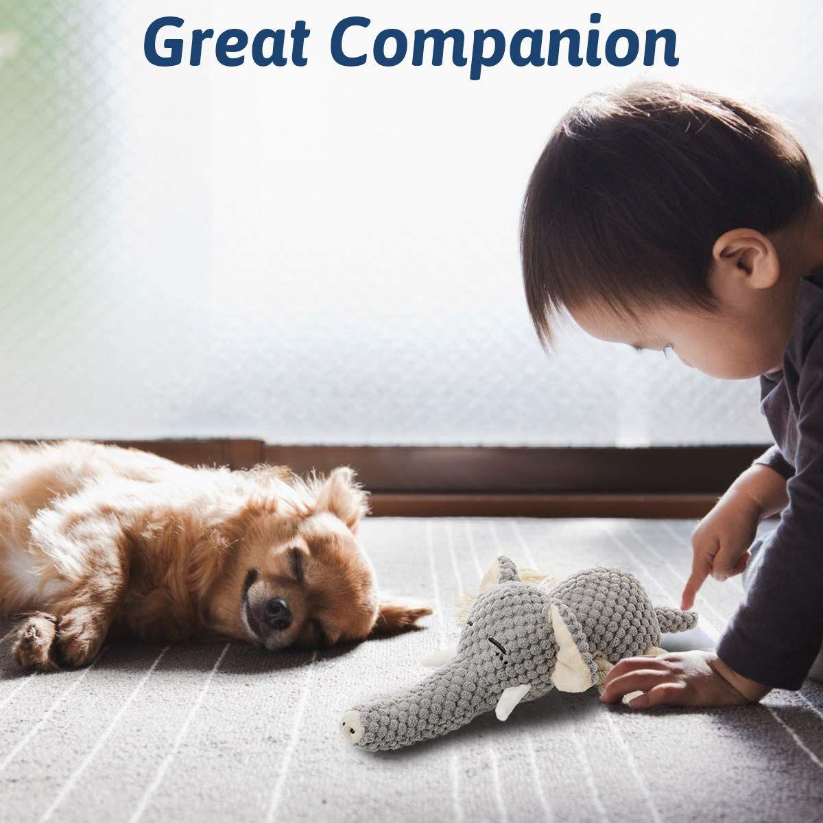 Kol Dog Plush Toys Dog Chew Toys Pet Squeaky Toys With Crinkle