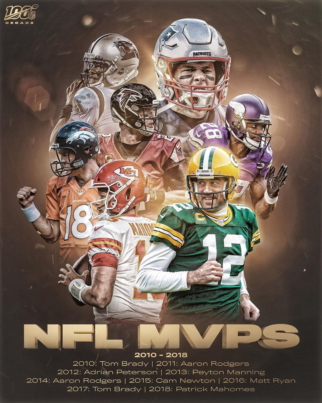 #NFL: MVP! EVERY League MVP From The Decade