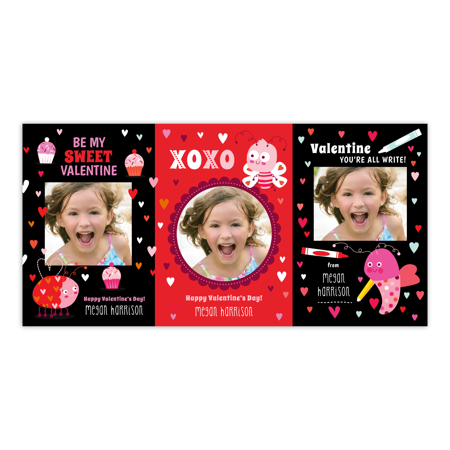 Personalized Valentines Day Kids Greeting Card Sweet Valentine