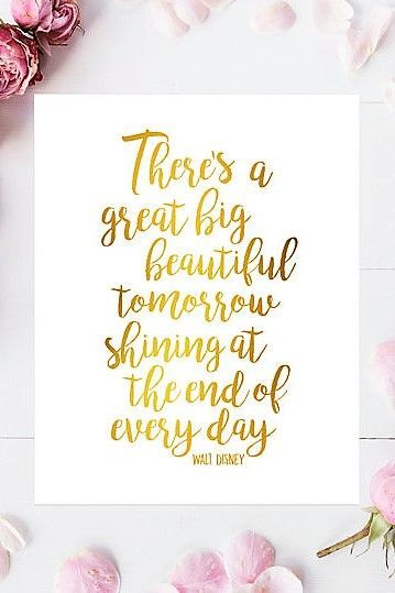 Walt Disney quote - print created with real gold foil ...