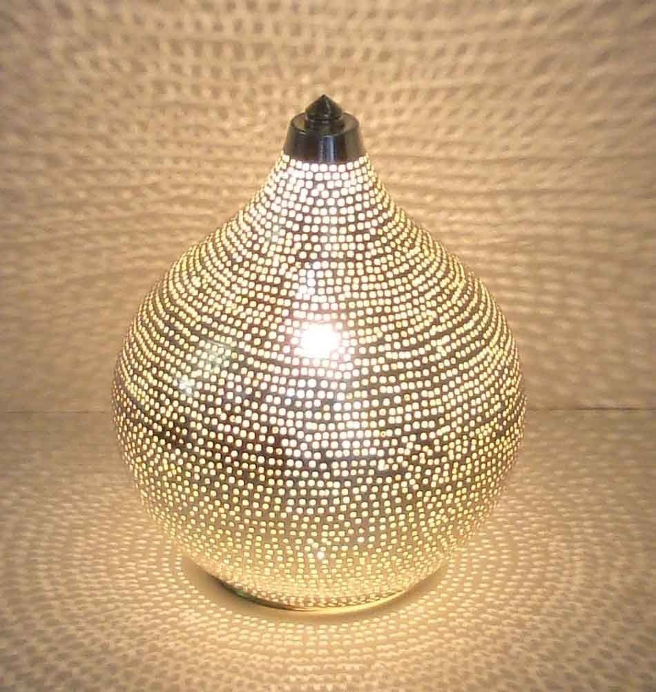 Kupfer Lampe Milanari Orientalische Tischlampe Mekin S H20 Cm Amazonde