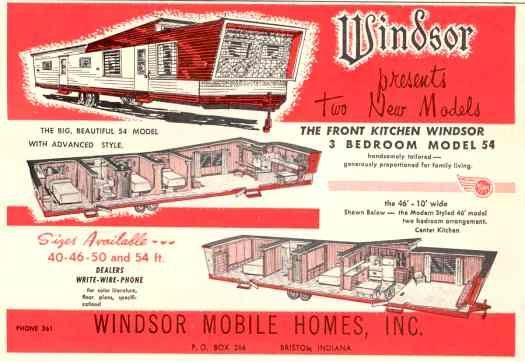 1960 Windsor 013104 Vintage Campers Trailers Rv Floor Plans Vintage Trailers