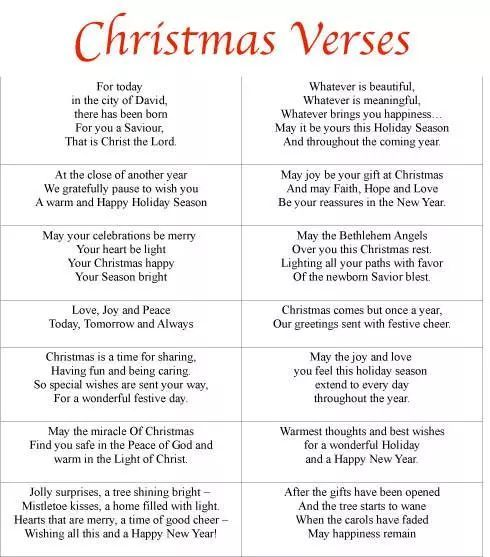 7 best images of free printable verses for cards encouraging bible verse cards printable free free printable christmas card verses and printable - Christmas Card Salutations
